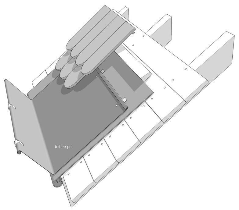 Schéma technique d'une gouttière de Laval.