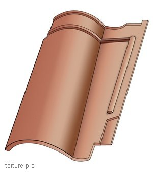 La tuile romane se distingue par une pose facile.