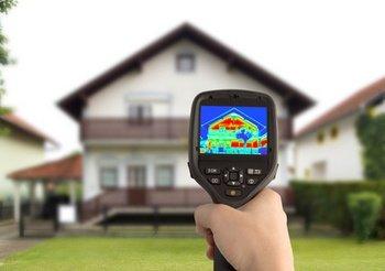 Déperdition d'énergie vue par imagerie thermique infrarouge.