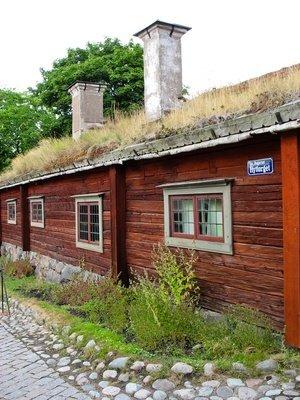 Exemple de couverture végétalisée en Suède.